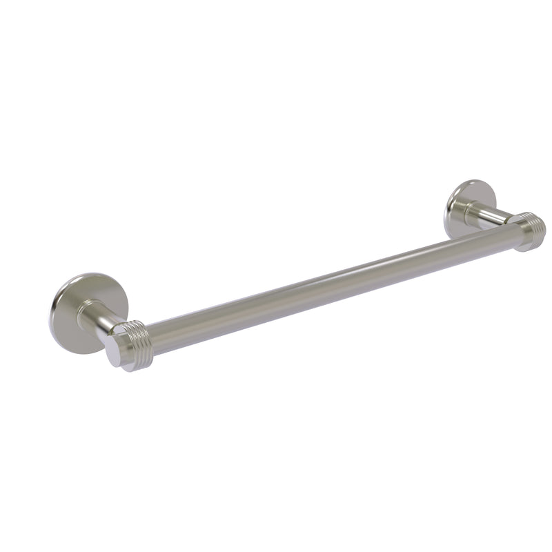 Allied Brass Continental Collection 30 Inch Towel Bar with Groovy Detail 2051G-30-SN