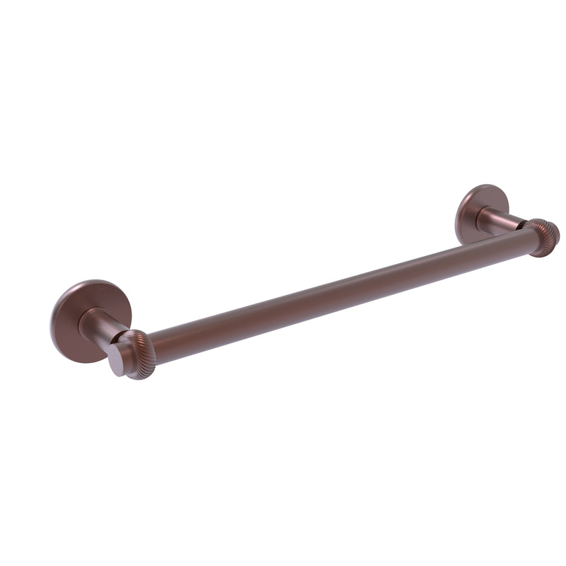Allied Brass Continental Collection 18 Inch Towel Bar with Twist Detail 2051T-18-CA
