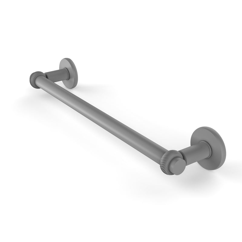 Allied Brass Continental Collection 18 Inch Towel Bar with Twist Detail 2051T-18-GYM
