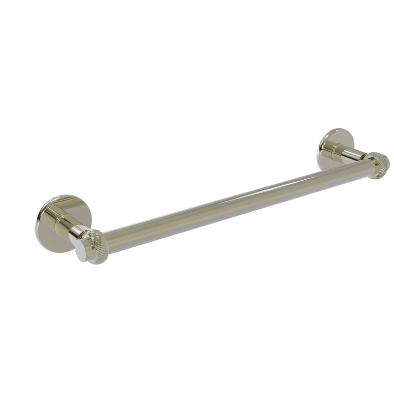 Allied Brass Continental Collection 18 Inch Towel Bar with Twist Detail 2051T-18-PNI
