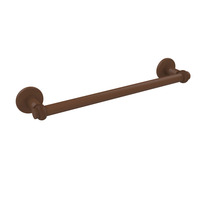 Allied Brass Continental Collection 24 Inch Towel Bar with Twist Detail 2051T-24-ABZ