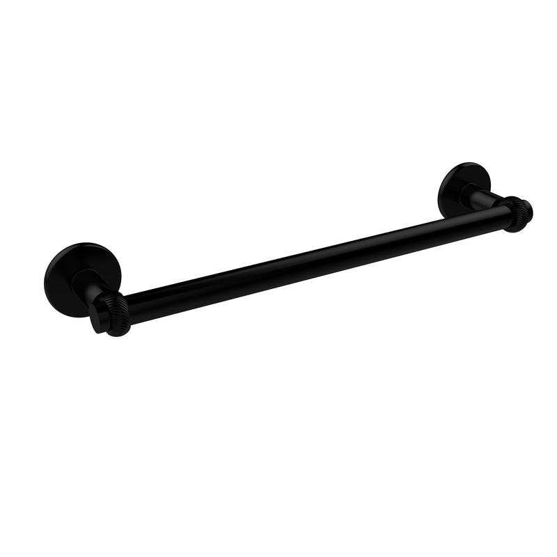 Allied Brass Continental Collection 24 Inch Towel Bar with Twist Detail 2051T-24-BKM