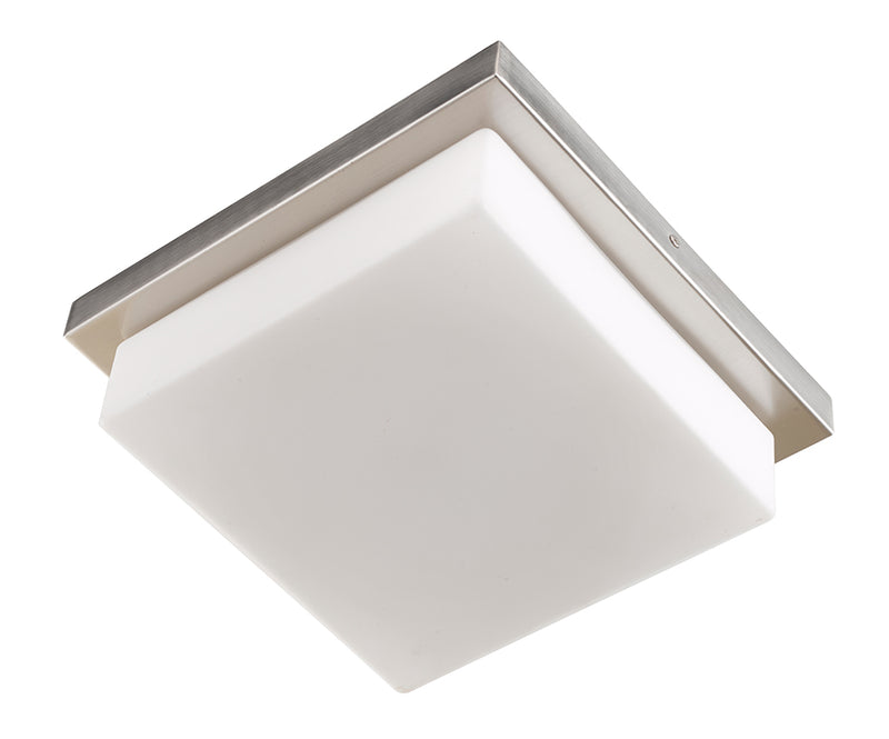 Abra Lighting Square Opal Glass Flush Mount 30006FM-BN