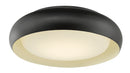 "Abra Lighting 15"" Recessed Opal Glass in a Metal Frame Hi-Out Dim LED 30060FM-BZ"