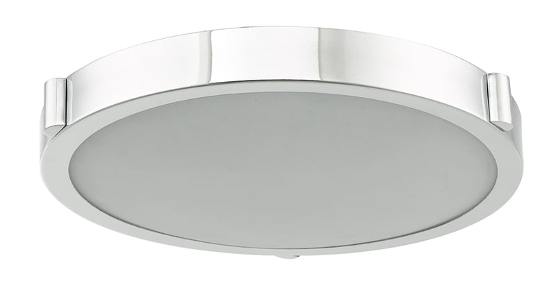 "Abra Lighting 13"" Low Profile Frost Glass Flush Mount Hi-Out Dim LED 30066FM-CH"