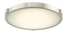 "Abra Lighting 17"" Low Profile Frost Glass Flush Mount Hi-Out Dim LED 30067FM-BN"