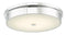 "Abra Lighting 15"" Opal Glass Flush Mount 30098FM-CH"