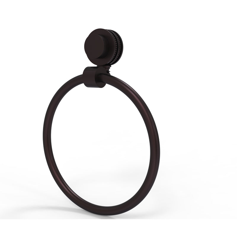 Allied Brass Venus Collection Towel Ring with Dotted Accent 416D-ABZ