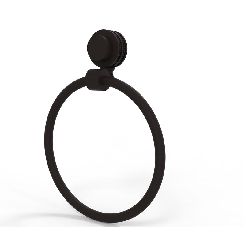 Allied Brass Venus Collection Towel Ring with Dotted Accent 416D-ORB