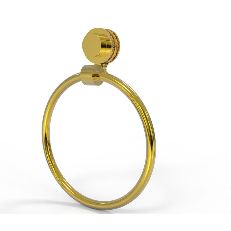 Allied Brass Venus Collection Towel Ring with Dotted Accent 416D-PB