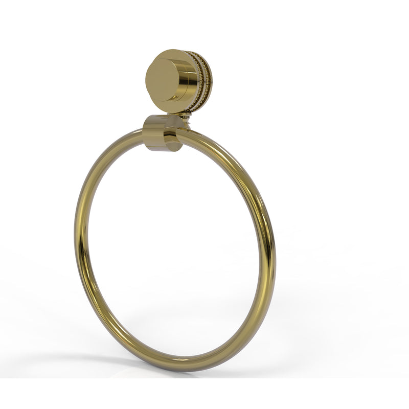 Allied Brass Venus Collection Towel Ring with Dotted Accent 416D-UNL