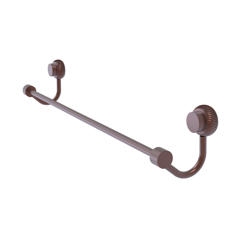 Allied Brass Venus Collection 24 Inch Towel Bar with Twist Accent 421T-24-CA