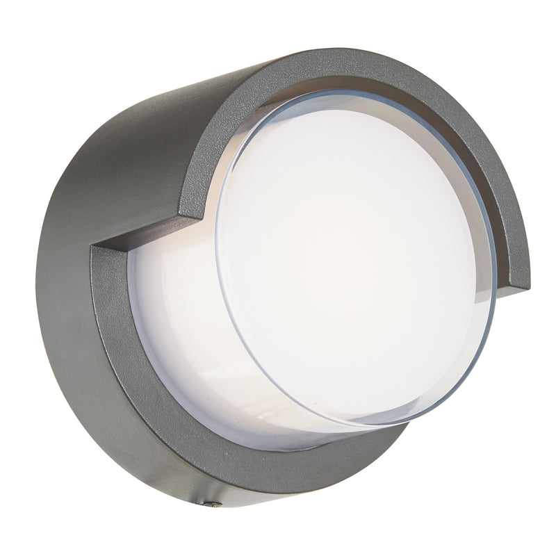 Abra Lighting Round outdoor wall sconce with hood 50021ODW-MB