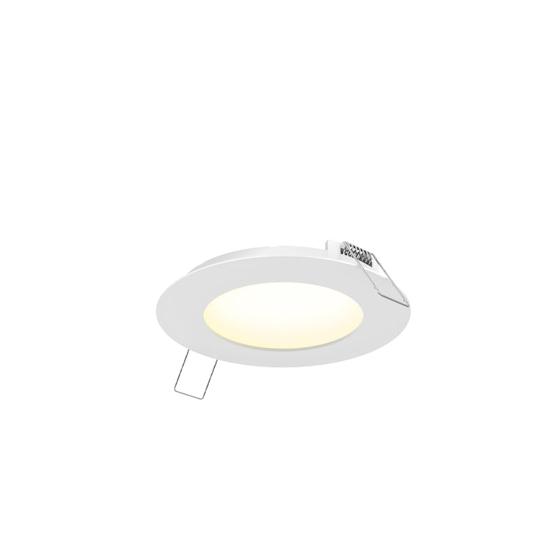 "Dals Lighting 4"" LED Round PRO Panel Light 9W 3000k 600 LM Wht 7004-WH"