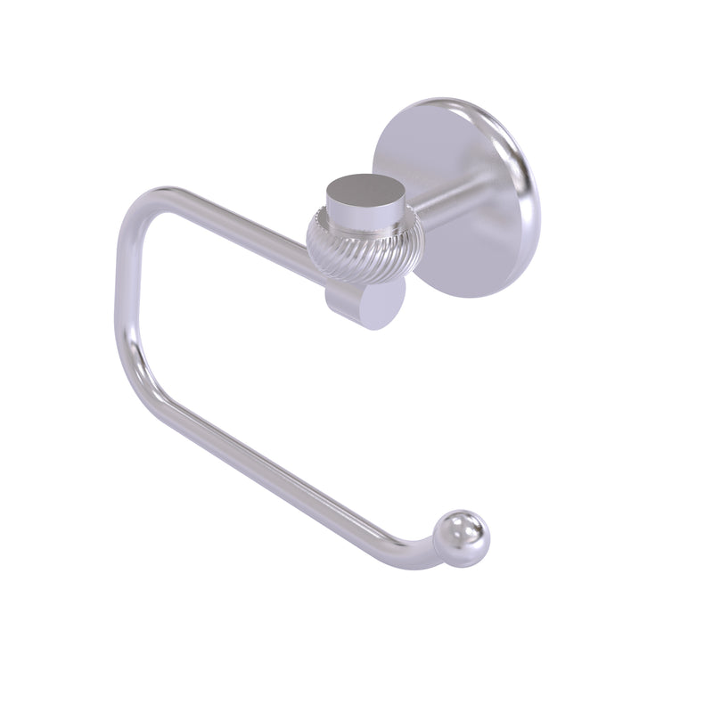 Allied Brass Satellite Orbit One Collection Euro Style Toilet Tissue Holder with Twisted Accents 7124ET-SCH