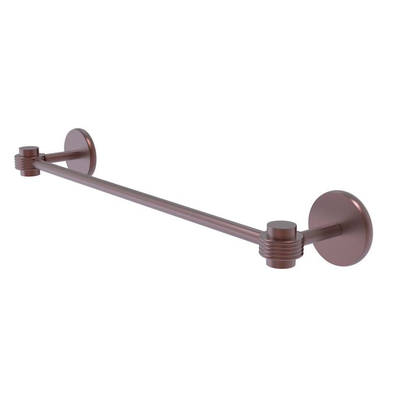 Allied Brass Satellite Orbit One Collection 24 Inch Towel Bar with Groovy Accents 7131G-24-CA