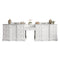 "James Martin De Soto 118"" Double Vanity Set, Bright White with Makeup Table, 3 CM Arctic Fall Solid Surface Top 825-V118-BW-DU-AF"