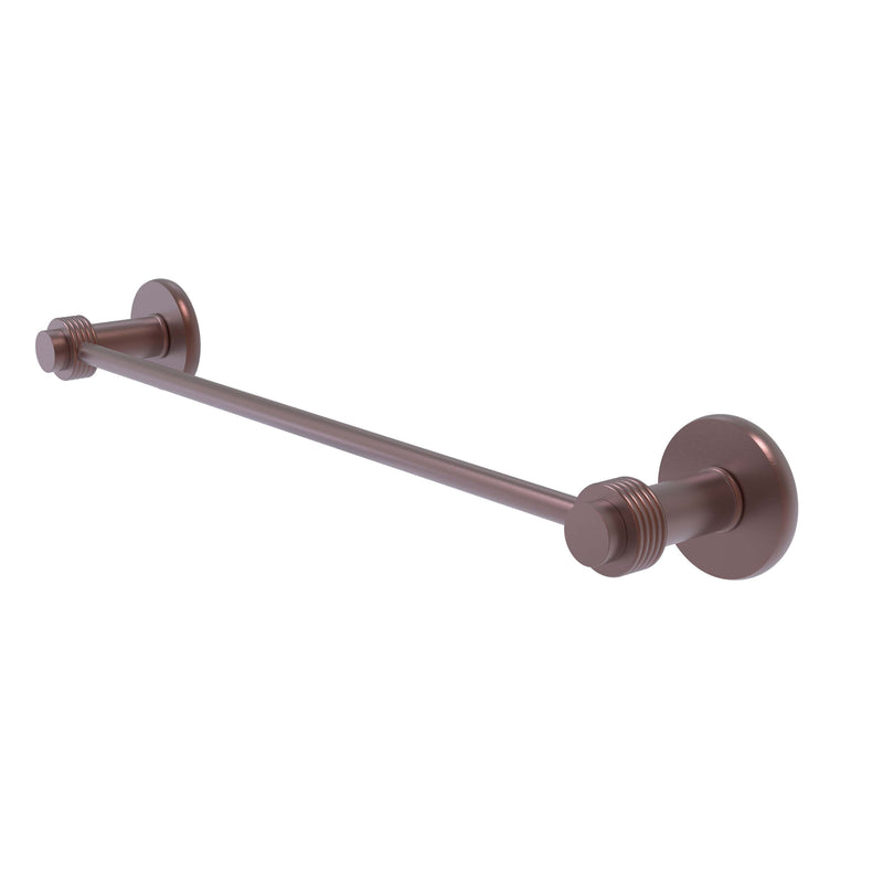Allied Brass Mercury Collection 36 Inch Towel Bar with Groovy Accent 931G-36-CA