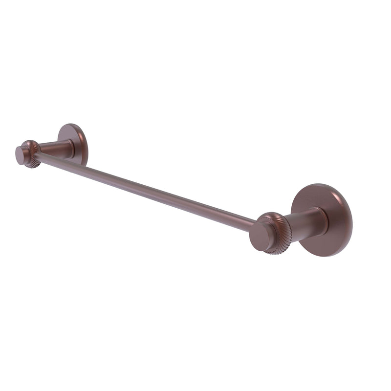 Allied Brass Mercury Collection 24 Inch Towel Bar with Twist Accent 931T-24-CA