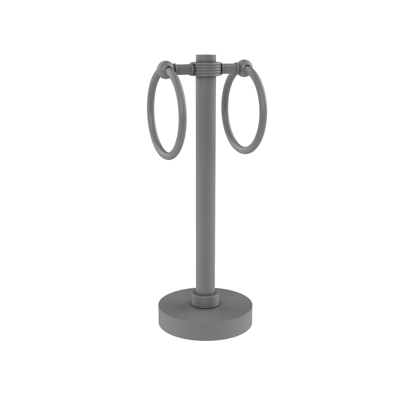 Allied Brass Vanity Top 2 Towel Ring Guest Towel Holder with Groovy Accents 953G-GYM