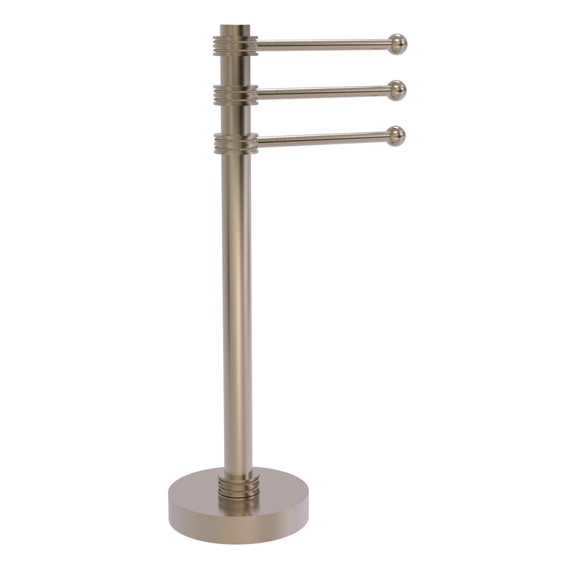 Allied Brass Vanity Top 3 Swing Arm Guest Towel Holder with Dotted Accents 973D-PEW
