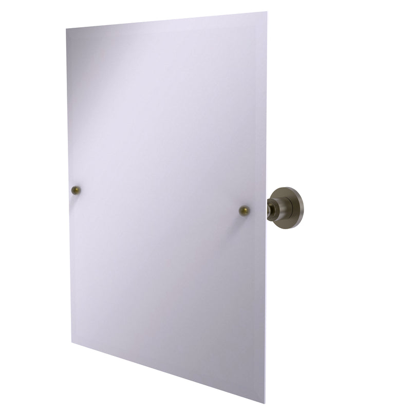 Allied Brass Frameless Rectangular Tilt Mirror with Beveled Edge AP-92-ABR