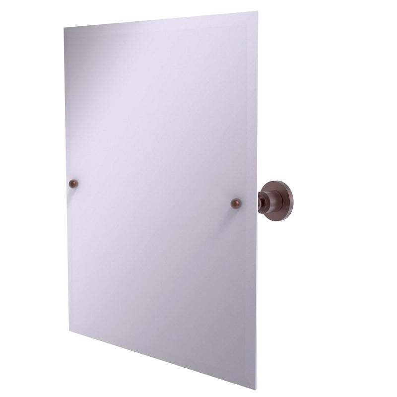 Allied Brass Frameless Rectangular Tilt Mirror with Beveled Edge AP-92-CA