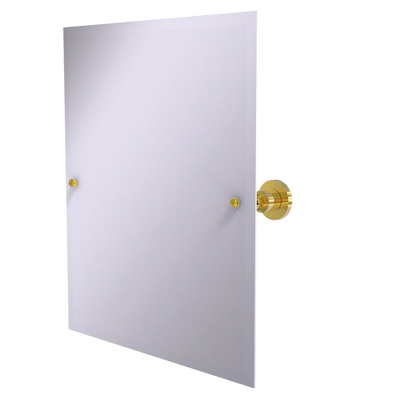 Allied Brass Frameless Rectangular Tilt Mirror with Beveled Edge AP-92-PB