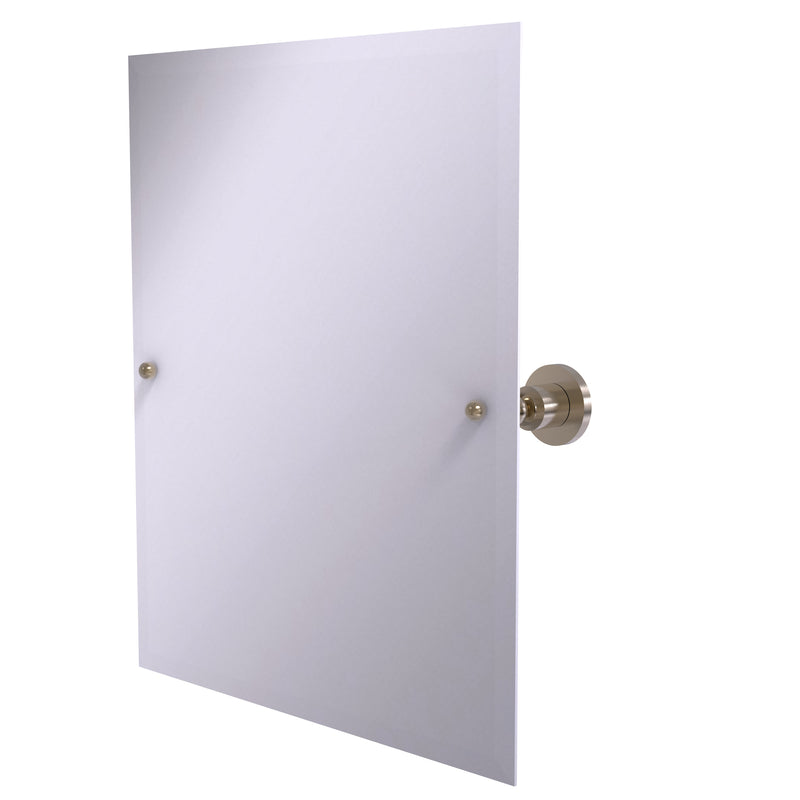 Allied Brass Frameless Rectangular Tilt Mirror with Beveled Edge AP-92-PEW