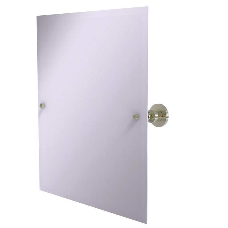 Allied Brass Frameless Rectangular Tilt Mirror with Beveled Edge AP-92-PNI
