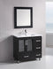 "Design Element Stanton 36"" Single Sink Vanity Set in Espresso"