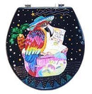 Buggy Whip KEYLIME PARROT HAND PAINTED TOILET SEAT IN THE TROPICS