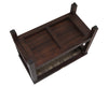 "DecoTeak Eleganto 24"" Teak Spa Bench with Viro Indoor/Outdoor Rattan Top and Shelf��"