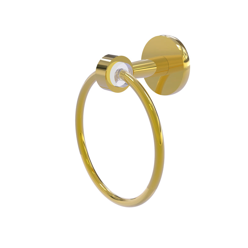Allied Brass Clearview Collection Towel Ring CV-16-PB