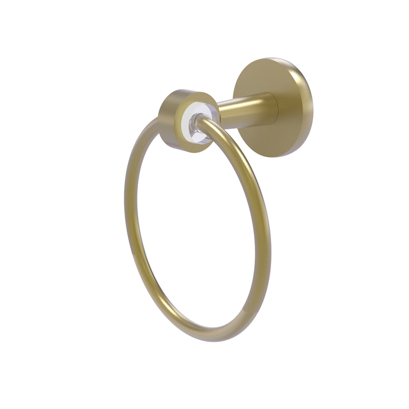 Allied Brass Clearview Collection Towel Ring CV-16-SBR