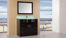 "Design Element Aria 40"" Single Sink Vanity Set in Espresso"