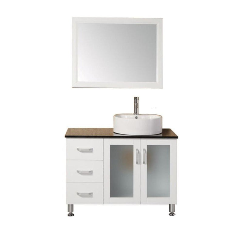 "Design Element Malibu 39"" Single Sink Vanity Set in White"