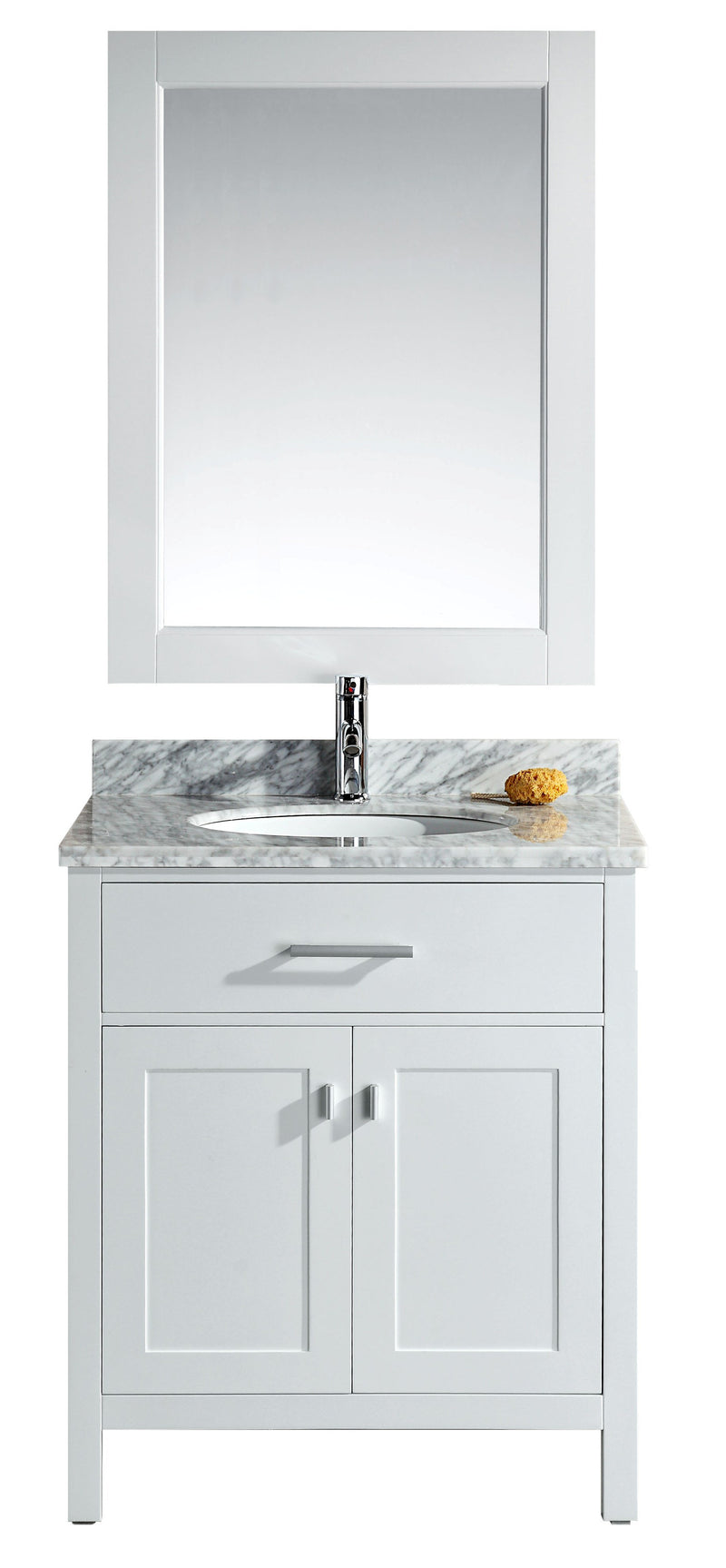 "Design Element London 30"" Single Sink Vanity Set in White"