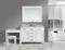 "Design Element London 42"" Single Sink Vanity Set in White Finish with One Make-up table in White"