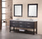 "Design Element London 72"" Double Sink Vanity Set in Espresso"