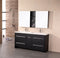 "Design Element Perfecta 63"" Double Sink Vanity Set in Espresso"