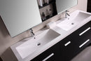 "Design Element Perfecta 72"" Double Sink Vanity Set in Espresso"