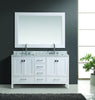 "Design Element London 61"" Double Sink Vanity Set in White Finish"