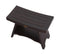 "DecoTeak Serenity 30"" Eastern Style Teak Shower Bench Stool With Shelf"