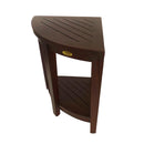 DecoTeak Oasis Extended Height Teak Corner Shower Bench With shelf 23""