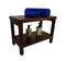 "DecoTeak Eleganto 24"" Teak Shower Bench With Shelf"