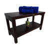 "DecoTeak Eleganto 30"" Teak Shower Bench With Shelf"