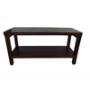 "DecoTeak Eleganto 36"" Teak Shower Bench With Shelf"