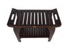 "DecoTeak Tranquility 30"" Extended Height Teak Shower Bench With Shelf"