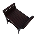 "DecoTeak Symmetry 24"" Contemporary Teak Shower Bench With Shelf And LiftAide Arms"